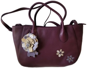 RADLEY LONDON Leather Crossbody Purse Satchel in Wine