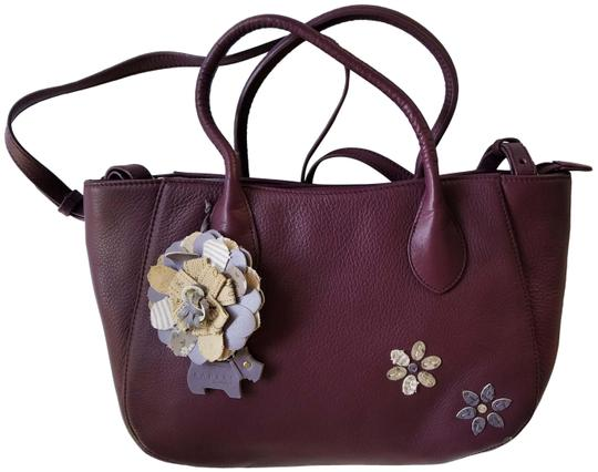 Preload https://img-static.tradesy.com/item/26304566/radley-london-crossbody-flower-purse-shoulder-strap-wine-leather-satchel-0-1-540-540.jpg