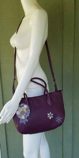 RADLEY LONDON Leather Crossbody Purse Satchel in Wine Image 1