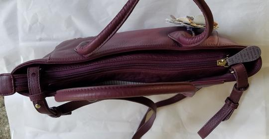 RADLEY LONDON Leather Crossbody Purse Satchel in Wine Image 3