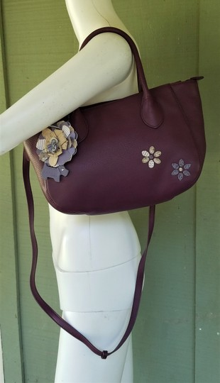RADLEY LONDON Leather Crossbody Purse Satchel in Wine Image 4