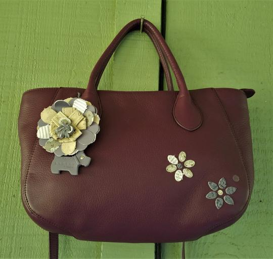 RADLEY LONDON Leather Crossbody Purse Satchel in Wine Image 7