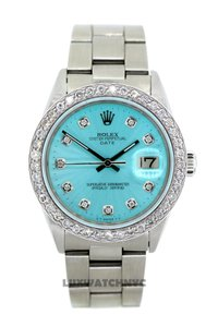ROLEX 2ct 34mm Date S/S with Appraisal & BOX