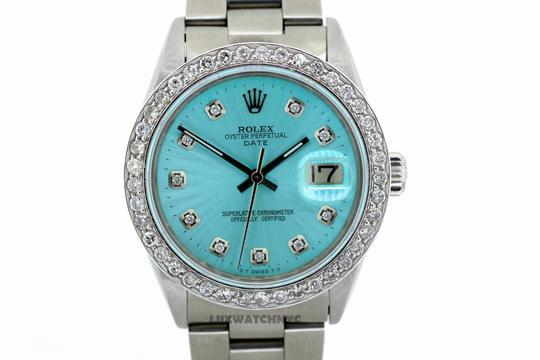 ROLEX 2ct 34mm Date S/S with Appraisal & BOX Image 1