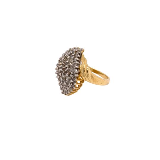 Other (2313) 14K Yellow Gold Diamond Cluster Ladies Ring Image 1