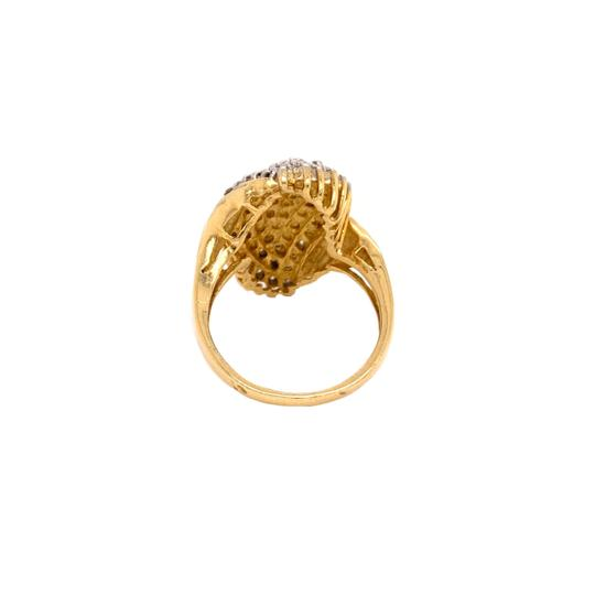 Other (2313) 14K Yellow Gold Diamond Cluster Ladies Ring Image 2