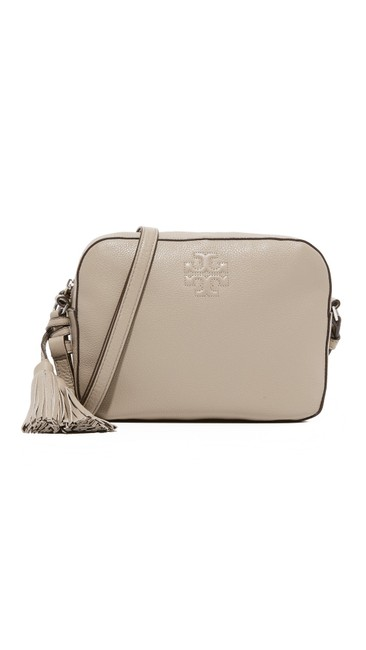 Item - Thea With Tassel French Grey Leather Shoulder Bag