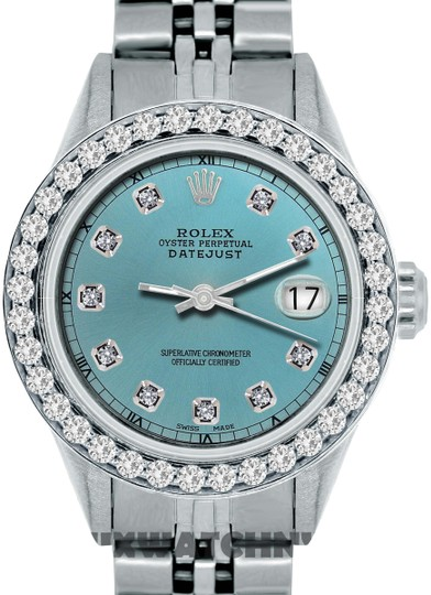 Preload https://img-static.tradesy.com/item/26304620/rolex-iced-blue-dial-box-13ct-ladies-datejust-ss-with-box-and-appraisal-watch-0-1-540-540.jpg