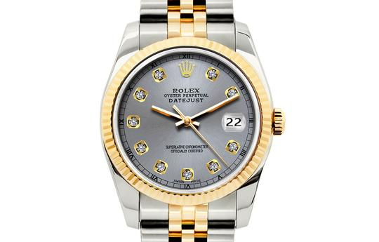 ROLEX 36mm Datejust Gold S/S Diamond with & Appraisal Image 1