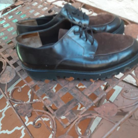 Paul Green Black with brown suede front. Flats Image 1