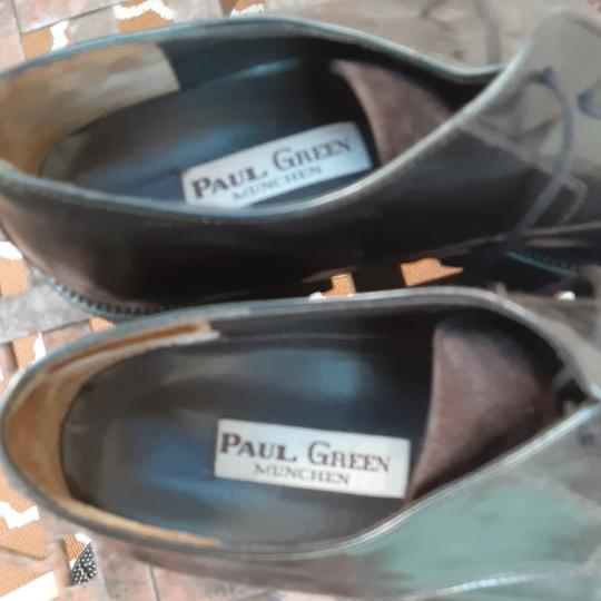 Paul Green Black with brown suede front. Flats Image 3
