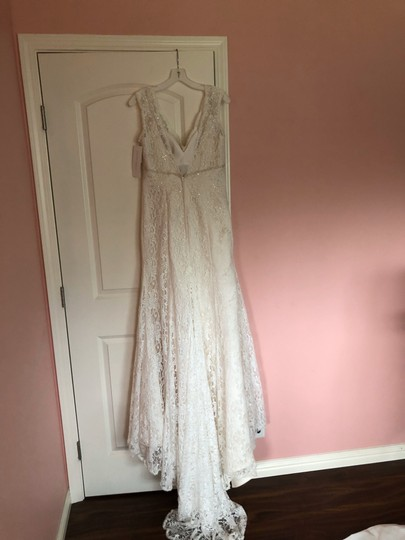Lace Trumpet/Mermaid Vintage Wedding Dress Size 8 (M) Image 2