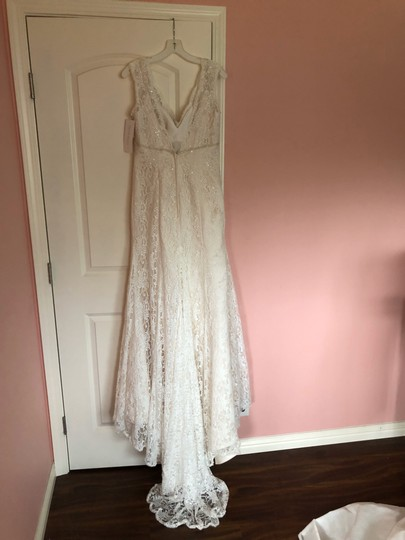 Lace Trumpet/Mermaid Vintage Wedding Dress Size 8 (M) Image 3