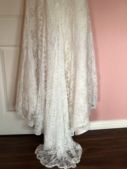 Lace Trumpet/Mermaid Vintage Wedding Dress Size 8 (M) Image 4