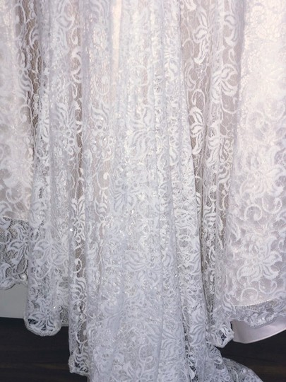 Lace Trumpet/Mermaid Vintage Wedding Dress Size 8 (M) Image 5
