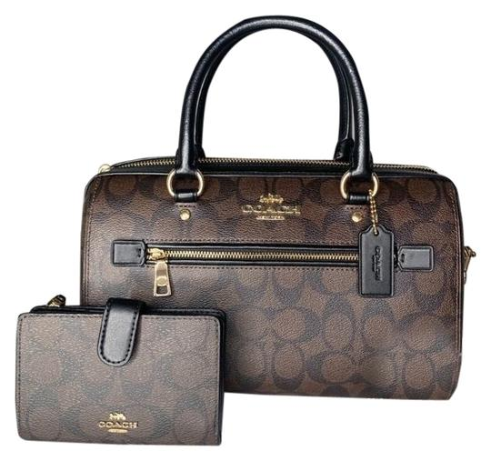 Coach Satchel in Signature Brown Image 0