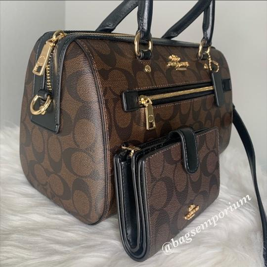 Coach Satchel in Signature Brown Image 2