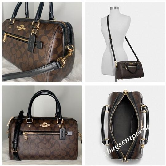 Coach Satchel in Signature Brown Image 6