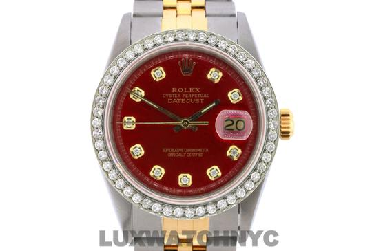 ROLEX 1.6ct 36mm Men's Datejust 2-tone WITH BOX & Appraisa Image 1