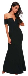 Black Maxi Dress by Lulu*s Off Shoulder Special Ocassion