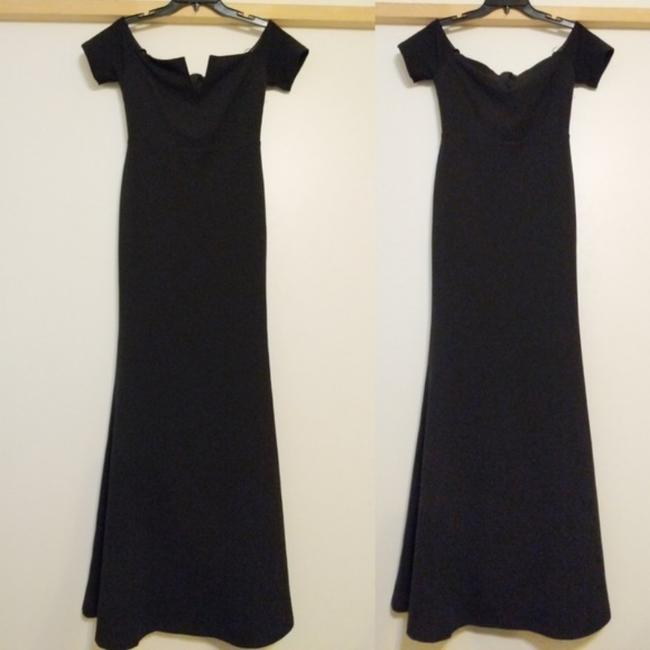 Black Maxi Dress by Lulu*s Off Shoulder Special Ocassion Image 2