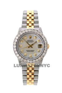 ROLEX 2.4ct 31mm Midsize Datejust Gold S/S with BOX & Appraisa