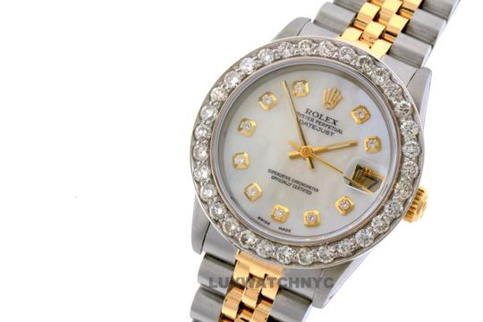 ROLEX 2.4ct 31mm Midsize Datejust Gold S/S with BOX & Appraisa Image 2