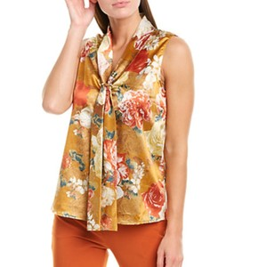 Tahari Top Cognac