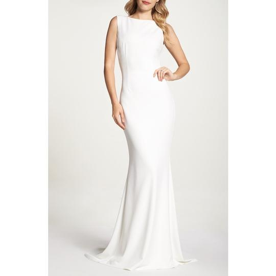 Katie May Ivory Jean and Noel Theo Low Back Crepe Mermaid Modern Wedding Dress Size 2 (XS) Image 1