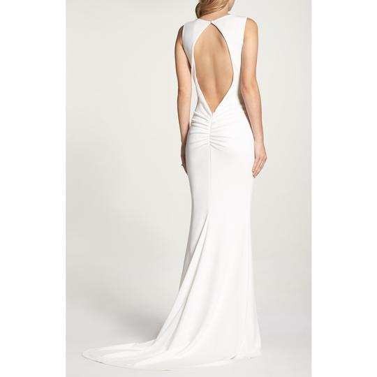 Katie May Ivory Jean and Noel Theo Low Back Crepe Mermaid Modern Wedding Dress Size 2 (XS) Image 2