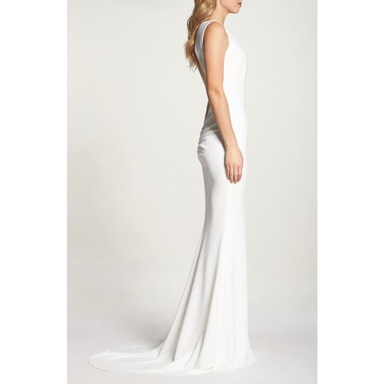 Katie May Ivory Jean and Noel Theo Low Back Crepe Mermaid Modern Wedding Dress Size 2 (XS) Image 4