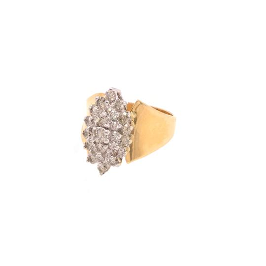 Other (2314) 14K Yellow Gold Diamond Cluster Ring Image 1