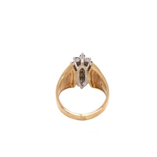 Other (2314) 14K Yellow Gold Diamond Cluster Ring Image 2