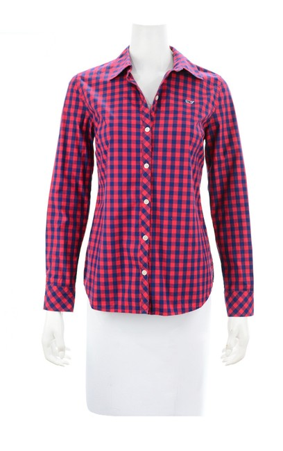 Preload https://img-static.tradesy.com/item/26304918/vineyard-vines-red-and-navy-blue-checkered-shirt-button-down-top-size-6-s-0-0-650-650.jpg