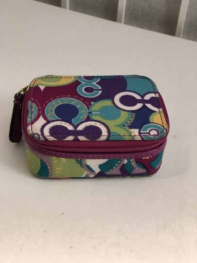 Coach COACH OP ART GRAFFITI ZIP AROUND LOGO PILL/MISC. CASE Image 2