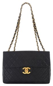 Chanel Vintage Xl Jumbo Classic Flap Shoulder Bag