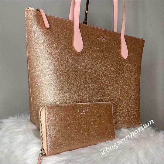 Kate Spade Tote in Rose Gold Image 1