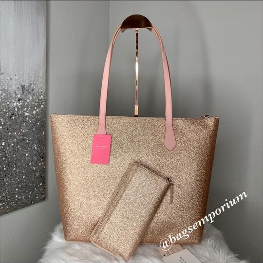 Kate Spade Tote in Rose Gold Image 4