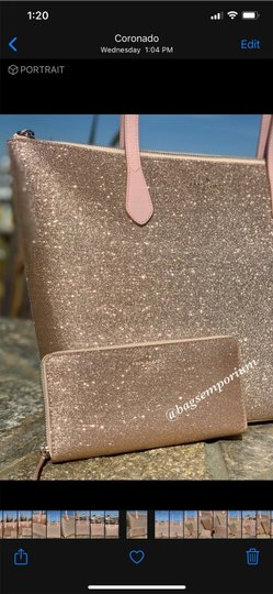 Kate Spade Tote in Rose Gold Image 8