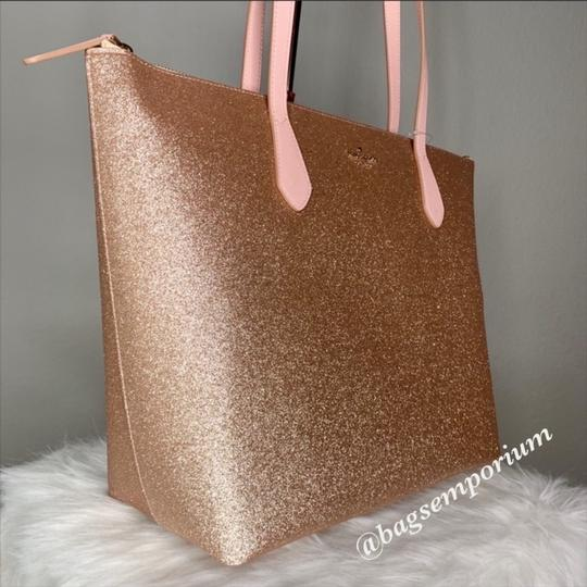 Kate Spade Tote in Rose Gold Image 9