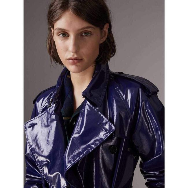 Burberry Women's Patent Canvas Trench Coat Image 1