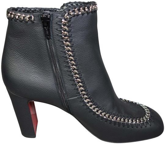 Preload https://img-static.tradesy.com/item/26305196/christian-louboutin-black-catenabotina-85-leather-silver-woven-chains-ankle-new-bootsbooties-size-eu-0-1-540-540.jpg