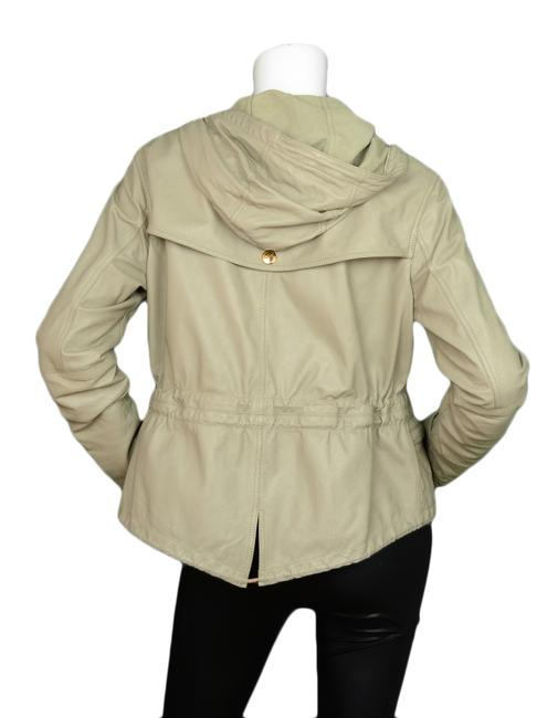 Burberry Brit Attacked Hood Lambskin Grey Leather Jacket Image 2