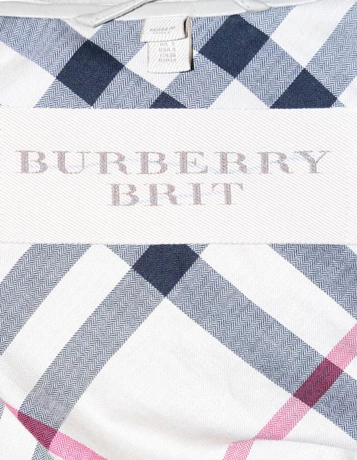 Burberry Brit Attacked Hood Lambskin Grey Leather Jacket Image 4