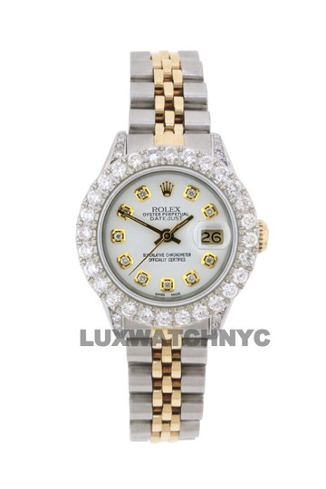 ROLEX 2.8ct Ladies 26mm Datejust Gold & Stainless Appraisal Image 8