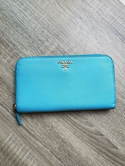 Prada Prada Saffiano Leather Zip Around Wallet Image 11