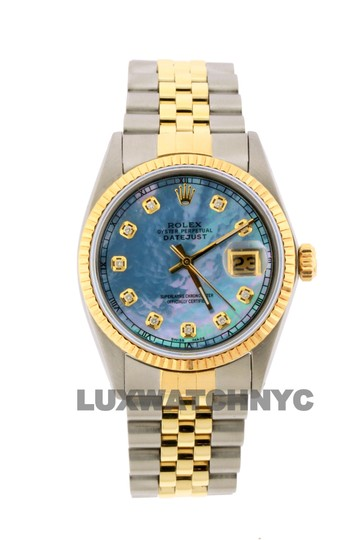 Preload https://img-static.tradesy.com/item/26305249/rolex-blue-mop-dial-36mm-datejust-gold-ss-with-appraisal-watch-0-0-540-540.jpg