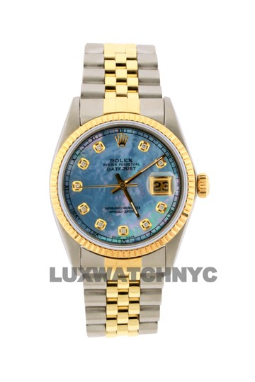 ROLEX 36mm Datejust Gold Ss with Appraisal Image 9