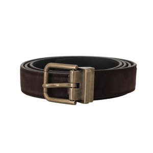 Dolce&Gabbana Brown D50161-2 Goatskin Gold Buckle Belt Groomsman Gift
