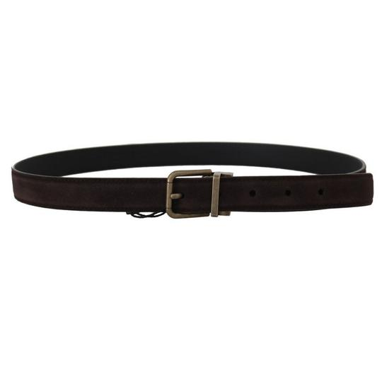 Dolce&Gabbana Brown D50161-2 Goatskin Gold Buckle Belt Groomsman Gift Image 2